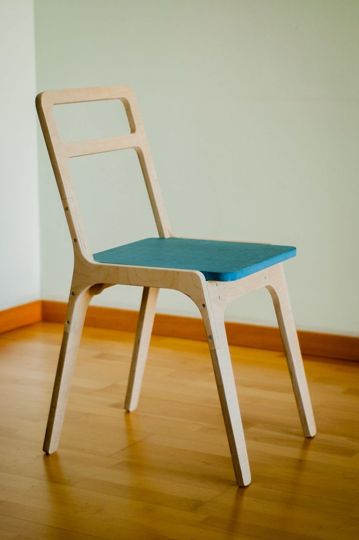 CNC cut 18 mm thick plywood chair. needs bolts for mounting