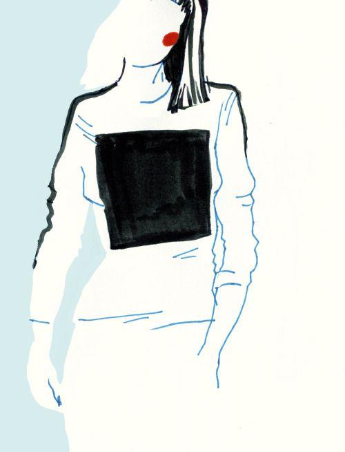 "illustration for Fuss Magazyn ""minimalism"" - karolina niedzielska"