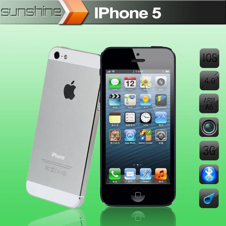 Unlocked Original Apple iphone 5 Mobile phone 4″ Retina IPS 1G/16GB Refurbished phone 8MP 1080P WCDMA GPS IOS Multi-Language
