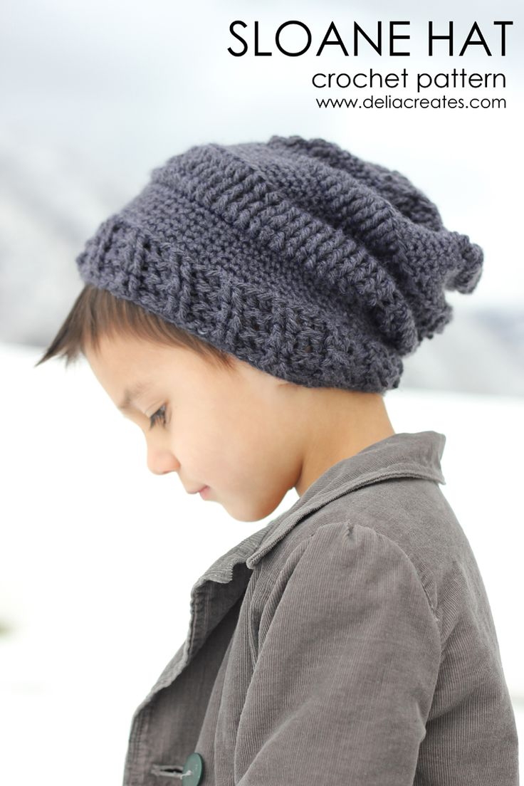 Slouchy Striped beanie pattern (66 of 125) crochet ...