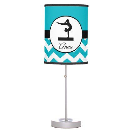 Teal Gymnast Silhouette Lamp - girl gifts special unique diy gift idea