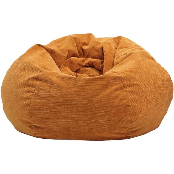 Corduroy Beanbag Chairs, Orange - Bean Bags > Bean Bag Chairs ($93) ❤ liked on Polyvore featuring home, children's room and children's furniture