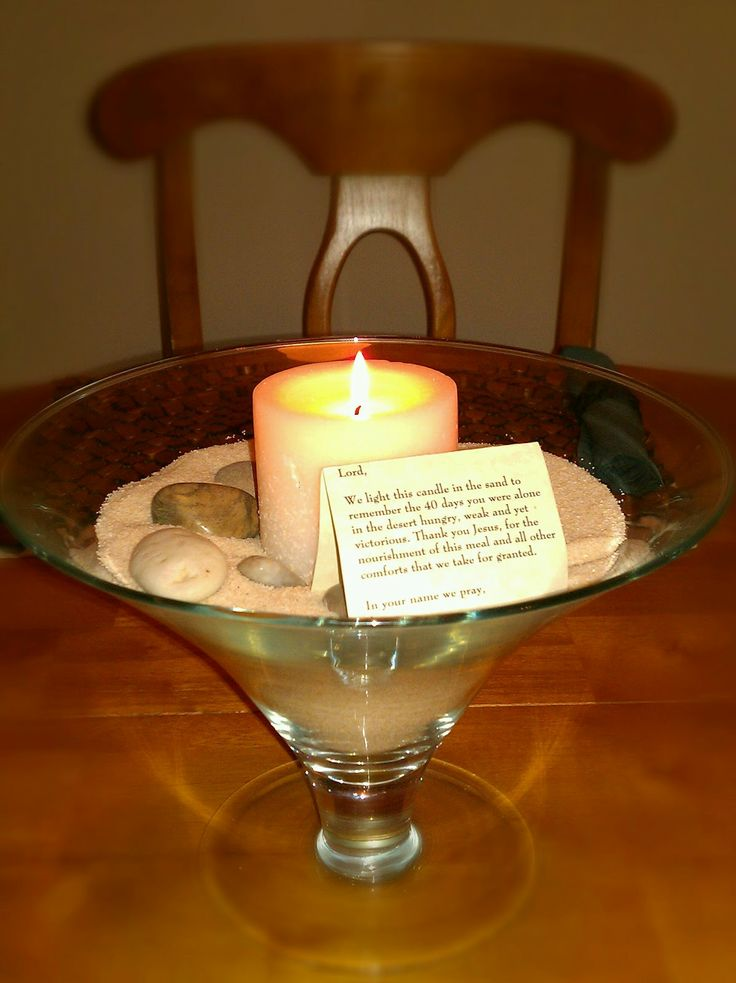 There's Joy in the Journey: Ash Wednesday (table display idea for family home during lent...)