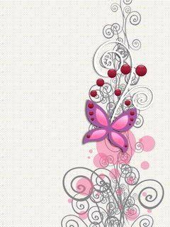 Pink Butterfly Backgrounds | Pink butterfly | Fondos 240 | Wallpapers gratis para celular | Fondos ...