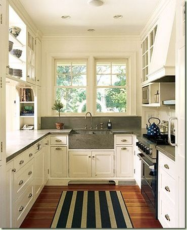 Captivating Cape Cod Galley Kitchens Plans. Small ...