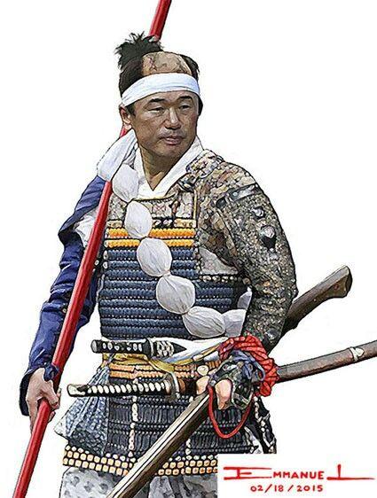 Evalerio, samurai with matchlock