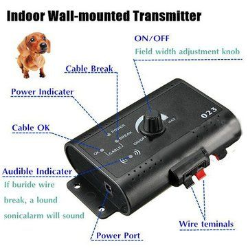 New Underground Shock Collar 3 Collars Pet Dog Electric Fence for 3 Dogs at Banggood
