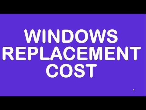 Windows Replacement Cost