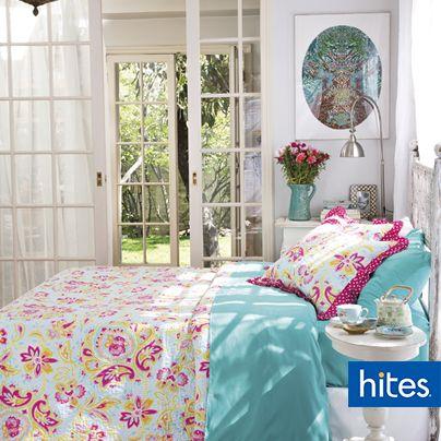 Dale alegría a tu dormitorio con estos colores y refresca tu ambiente con este diseño.
