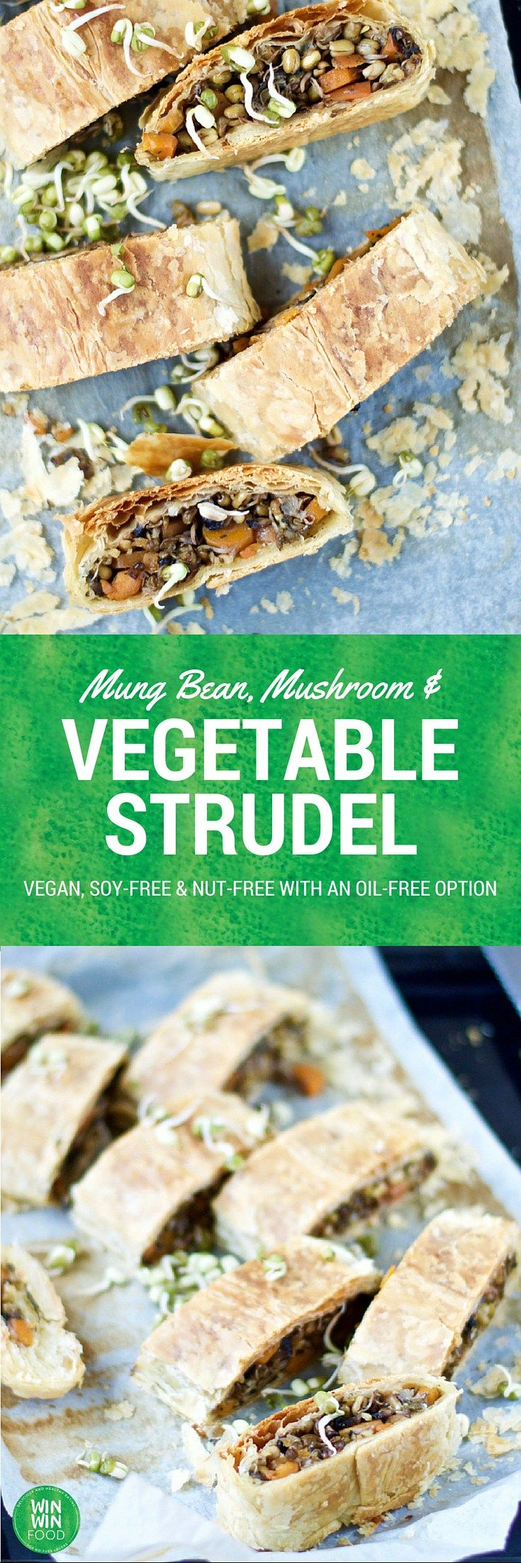 Vegetable Strudel | WIN-WINFOOD.com Delicious #vegan #appetizer or party food or even a portable lunch