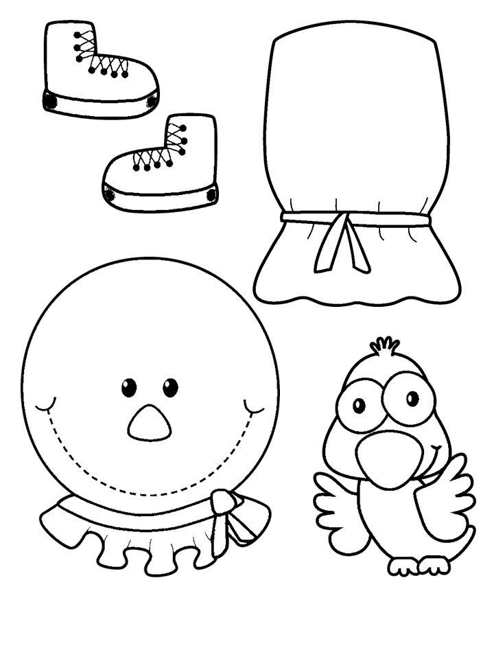 8x11 girl scarecrow coloring pages | Pin på Målarbilder ~ Bondgård, Farmare
