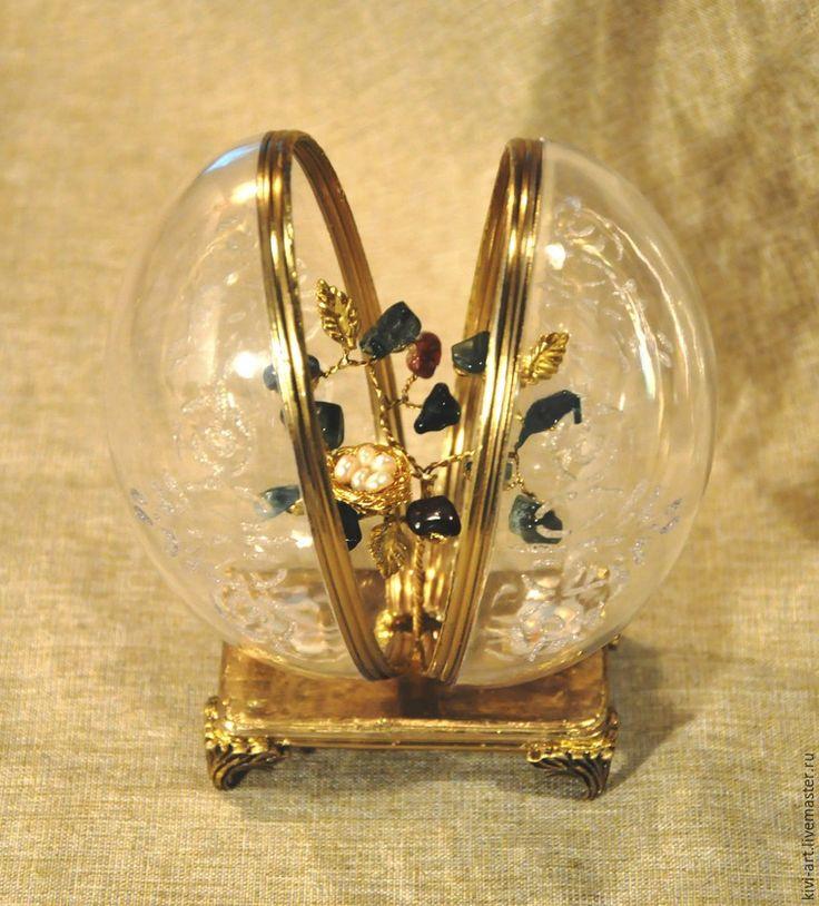 Декор пасхального яйца «Хрустальное» - Ярмарка Мастеров - ручная работа, handmade
