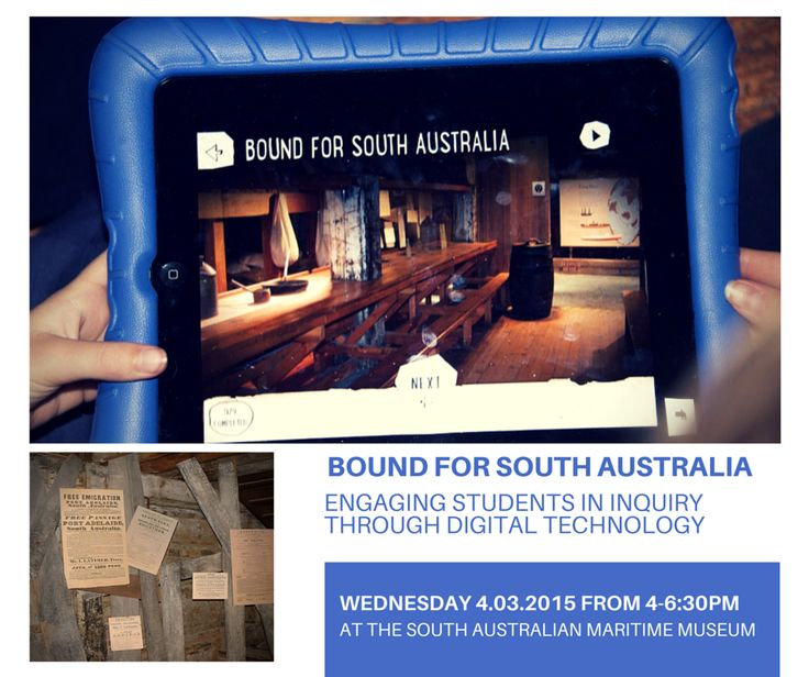Register for this workshop that explores engaging students in inquiry through digital technology at the South Australian Maritime Museum.  Date: Wednesday 4th March, 4pm – 6:30pm Cost: $10 (includes afternoon tea) Bookings: 8207 6255 or cdeceukelaire@history.sa.gov.au    Supporting students in years 4 to 6 to develop historical skills and understandings aligned with the Australian Curriculum: History and Geography.