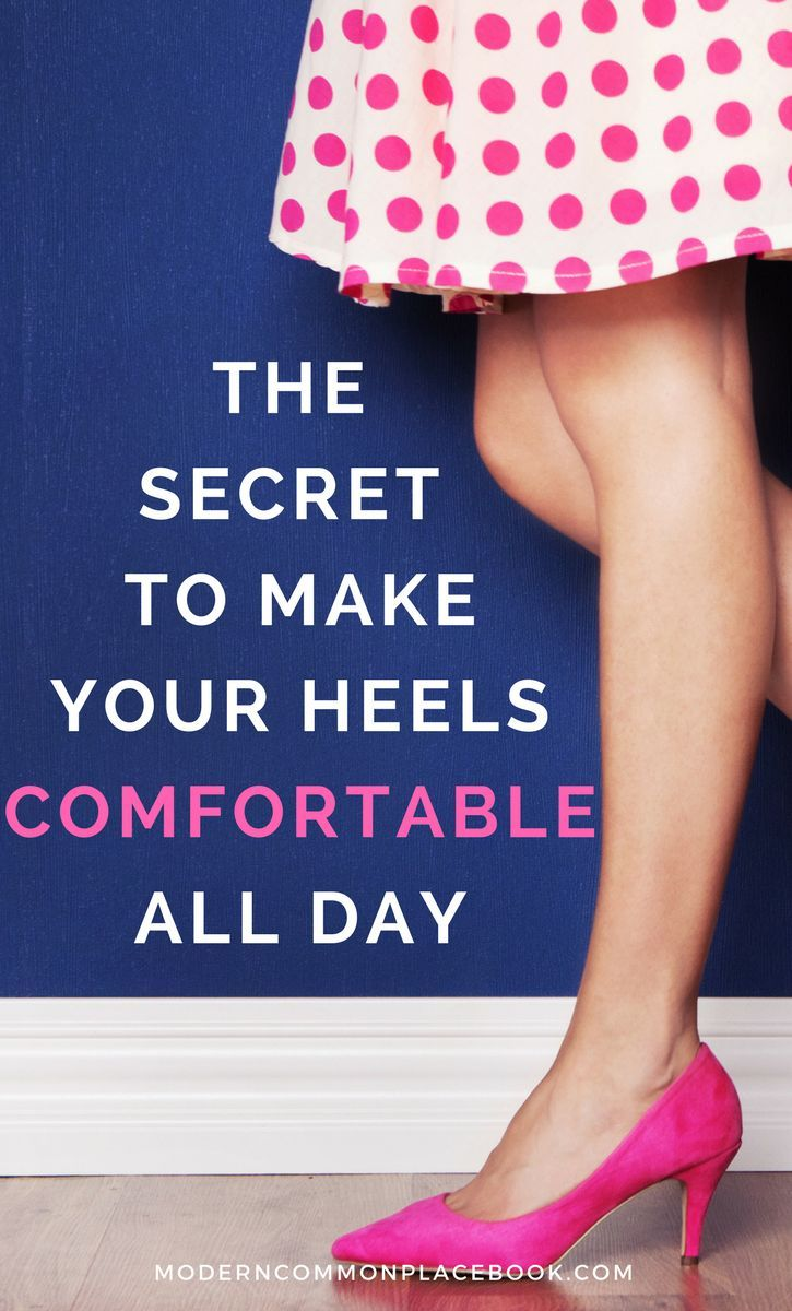 The secret to make your heels comfortable all day - high heels, high heels classy, high heels comfortable, high heels favorites, heels shoes, heels and jeans via @modcommonplace