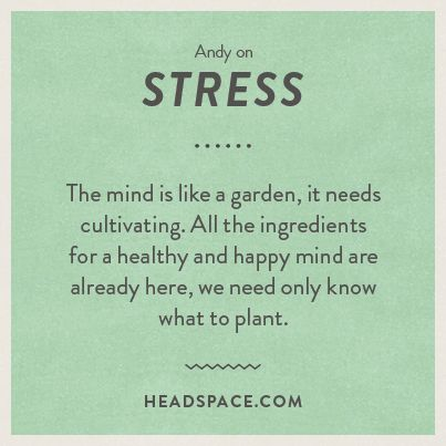 Headspace on stress
