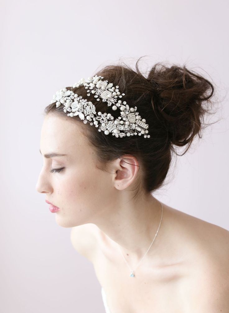 1625 best images about headwear wedding cap circlet clip
