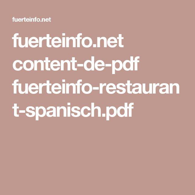 fuerteinfo.net content-de-pdf fuerteinfo-restaurant-spanisch.pdf