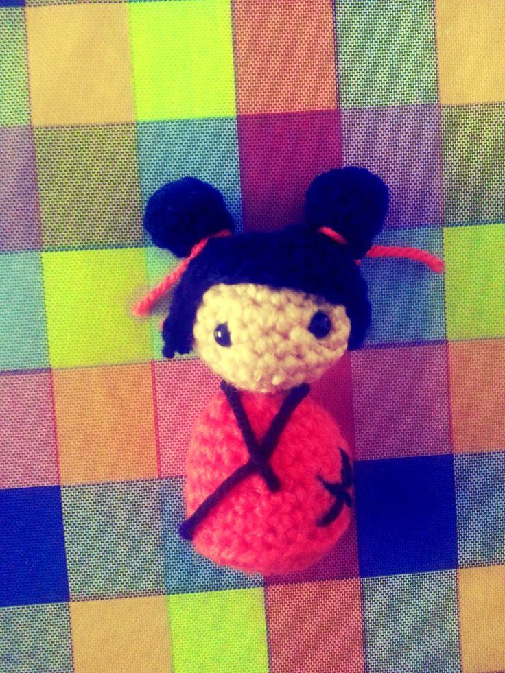 Kokeshi de la suerte / Lucky Kokeshi http://tiendaamigurumi.com