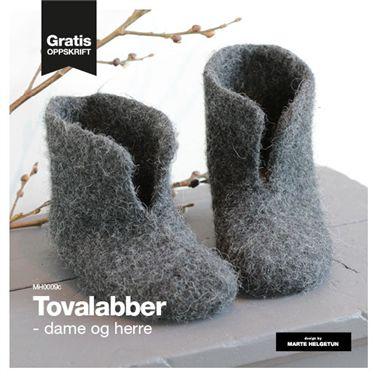 Tovalabber - dame og herre - Strikkeoppskrifter - Design by Marte Helgetun