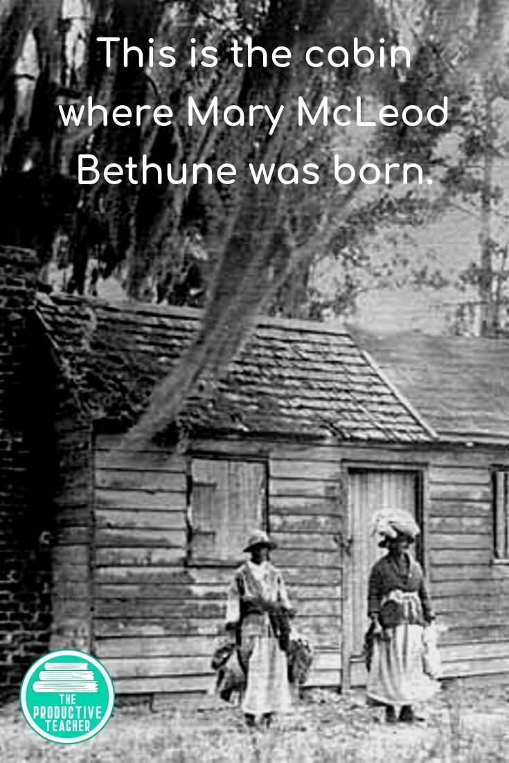 Mary Mcleod Bethune S Parents Were Slaves Before The Civil War Many Of Her Brothers And Sisters Ha Reading Passages Mary Mcleod Bethune Social Studies Teacher [ 1102 x 735 Pixel ]