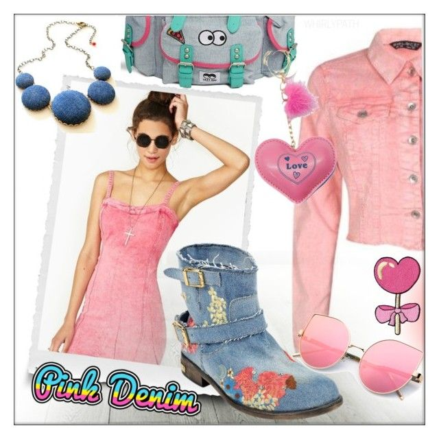 Spring Trend: Colored Denim by whirlypath on Polyvore featuring Lazy Oaf and Philipp Plein