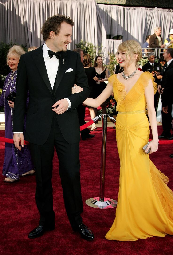 """Heath Ledger and Michelle Williams arrive on the red carpet at the 78th Academy Awards - March 5, 2006.  Both Heath and Michelle were Oscar nominees for their work in """"Brokeback Mountain"""" - Ledger for Best Actor, Williams as Best Supporting Actress."""