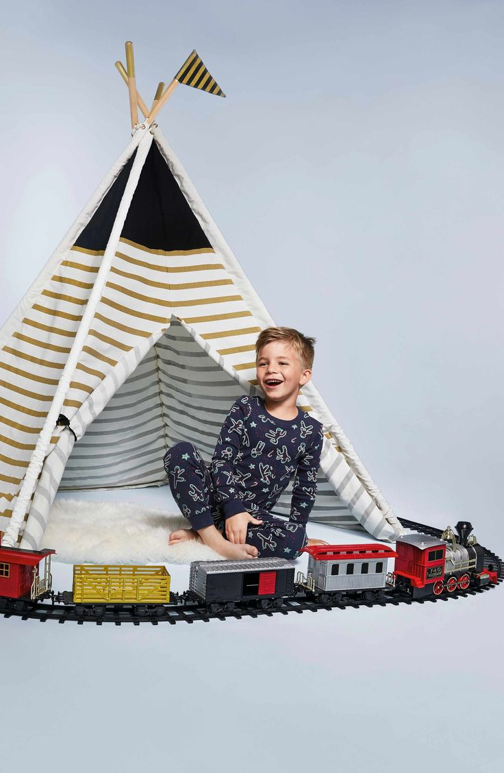 A teepee-shaped play tent that stands five feet tall is made of durable canvas and sturdy wooden poles makes a fun addition to any playroom or backyard, giving the kiddos a comfy place to set up fort and let their imaginations run wild. Please observe all 'NO GROWN UPs' signs that might be posted.