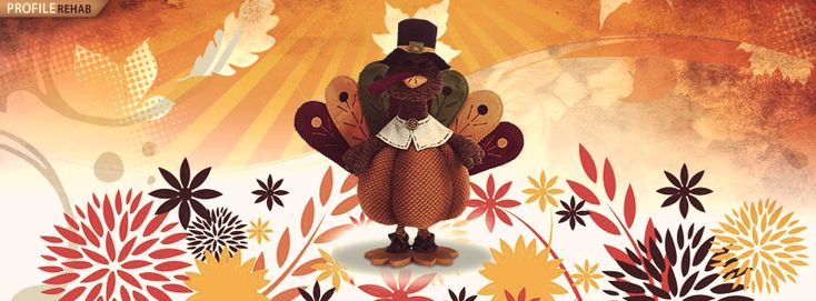Thanksgiving Cover with Turkey - Thanksgiving Turkey Images - Cute Thanksgiving Pictures
