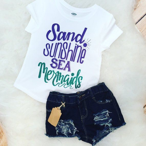 Mermaid Squad Cute Funny Girls Children/'s Kids T Shirts T-Shirt Top