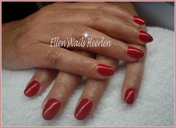 Rode Full color met Rode glitters.
