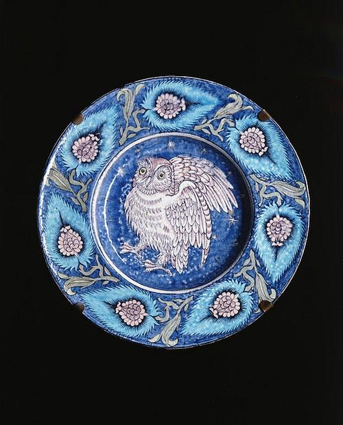 William de Morgan Dish by Birmingham Museum and Art Gallery on Flickr.