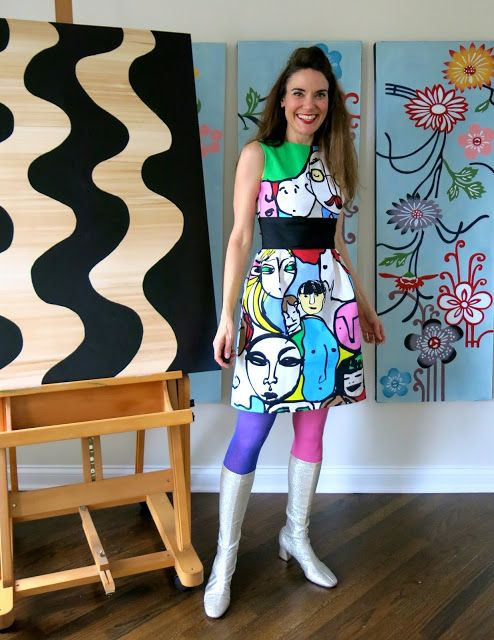 Cassie Stephens: DIY: The IKEA Fabric Portrait Dress