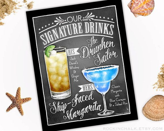 316 best i do wedding signs images on pinterest wedding wedding decoration signature drink sign dual by rockinchalk junglespirit Gallery