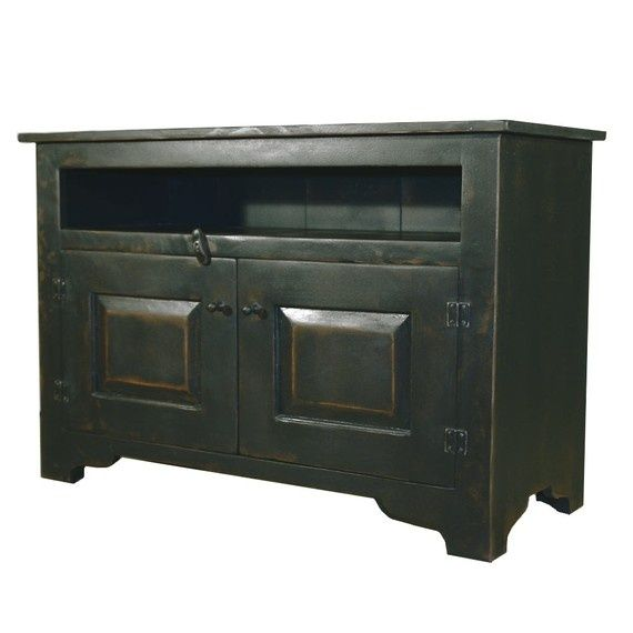 Primitive Black 40 inch TV Stand Handmade to Order by ShakaStudios, $880.00