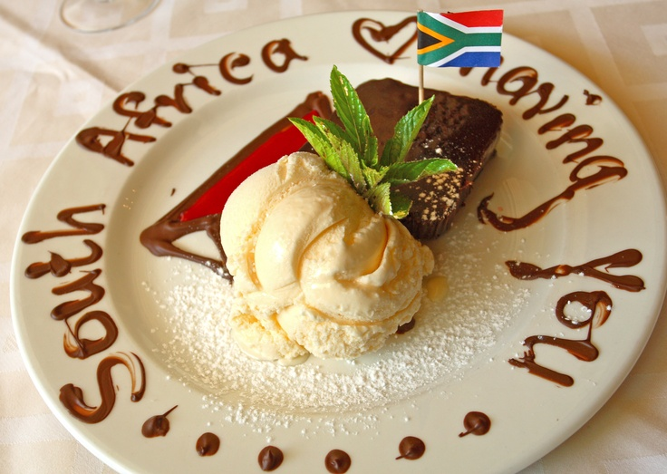 Proudly South African Dessert made by Ann du Rand, those were the days in Tsitsikamma when Busgroups were number ONE !