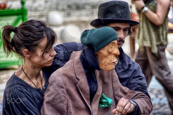 Street theater figures - show of 2012 - theater figures - Marionetas Colegone
