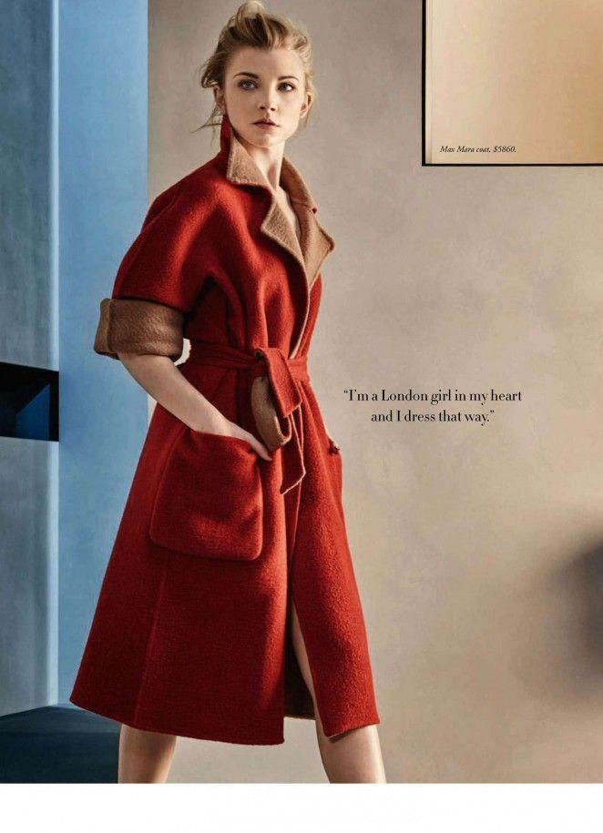 Natalie Dormer for Harper's Bazaar Australia May 2016 - Max Mara