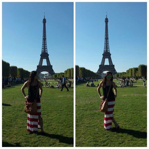 L'été à Paris. Striped skirt.