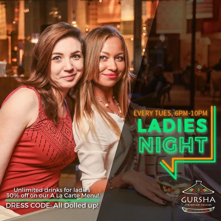 Attention Ladies it's your night today! Avail unlimited select drinks and 30% off on our a la carte menu today evening at Ladies night from 6pm to 10pm only at Gursha Dubai Call us @ 04 554 2665 and book your table now!  #gursha #givemegursha #ethiopian #ladiesnightdubai