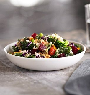 Healthy Starbucks Guide - Hearty Brown Rice and Veggie Salad: The 430 calorie serving contains 10g of protein and 8g of fiber.