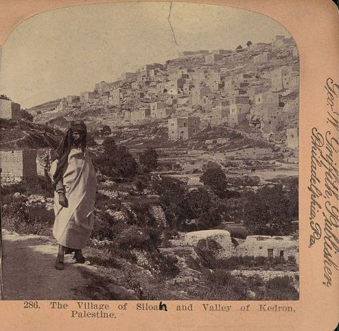 Silwan/Shiloah outside of Jerusalem. 1900. The man is a Jew from Yemen. See more at www.israeldailypicture.com