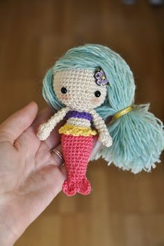 Free mermaid crochet pattern by Blackhatllama.com *think Christmas gifts*