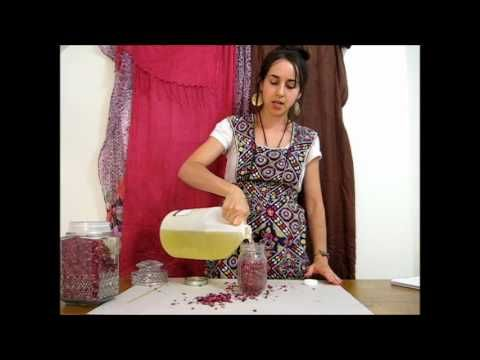 **How to Make Rose Oil** Cold Infusion Method - method for very patient people!