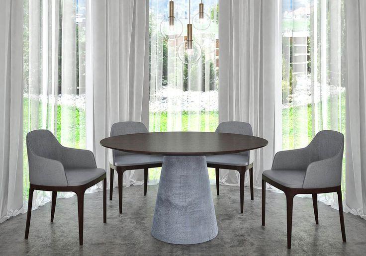 Betonlábú kerek asztal több méretben is!  http://asztalkell.hu/termekek/kerek-asztalok-betonlabu/kerek-asztal-5-wenge-beton/