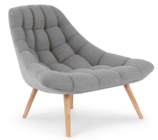 Fauteuil Large Tissu Gris Clair Et Pieds Bois Clair Dani Lestendances Fr Fauteuil Confortable Fauteuil Design Fauteuil Scandinave