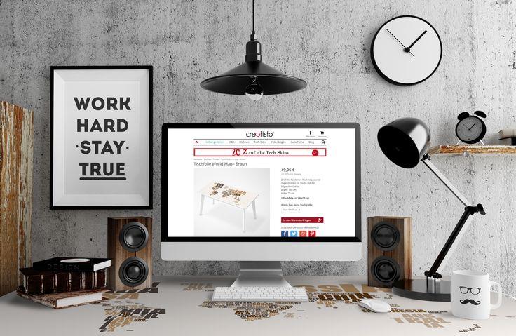 ~ Hol dir die komplette Welt auf deinen Schreibtisch ~ #tischfolie #worldmap #creatisto