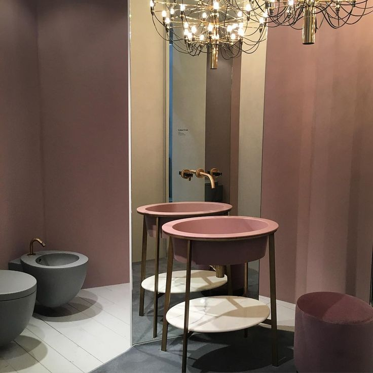 Because bathrooms don't have to be all white tiles - love the idea of integrating it with a bedroom or dressing room. Soothing too with the dusty colour scheme.  #isaloni2016 #mdw2016 #fuorisalone2016 #salonedelmobile #vanity #bathroom #ceramicacielo