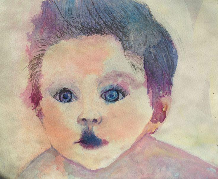 Child Watercolour Study