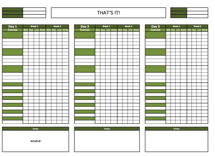 blank printable workout calendar template 4