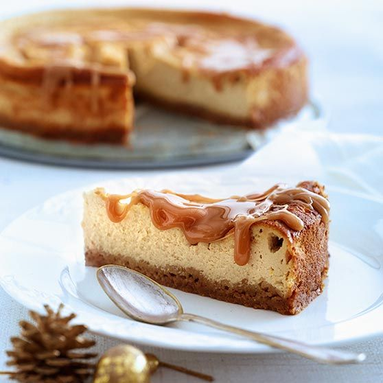 Cheesecake med karamel (Recipe in Danish)